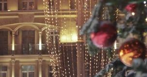 Lumières sur l'arbre de Noël clips vidéos
