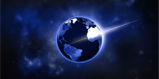 Lumières sur terre photographie stock libre de droits