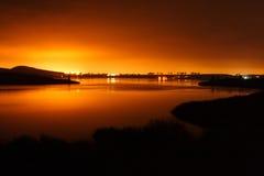 Lumières sur un lac photo libre de droits