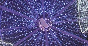 Lumi?res d'an neuf Illumination de vacances de ville clips vidéos