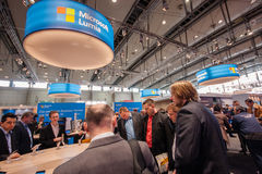 Lumia stand in booth of Microsoft company at CeBIT Stock Images