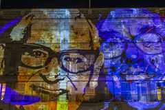 Lumiere伦敦-灯节 免版税库存照片