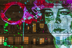 Lumiere伦敦-灯节 库存照片