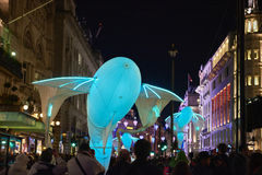 Lumiere伦敦2016年 免版税库存照片