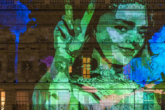 Lumiere Λονδίνο - φεστιβάλ των φω'των Στοκ Εικόνες