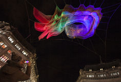 Lumiere ljusfestival i London Royaltyfri Bild