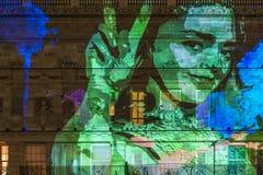 Lumiere Londen - festival van lichten Stock Afbeeldingen