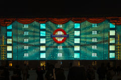 Lumiere London - festival of lights royalty free stock photos