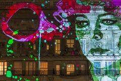 Lumiere Londyn - festiwal świateł Zdjęcie Stock