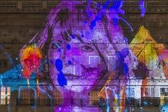 Lumiere Londyn - festiwal świateł Zdjęcia Royalty Free