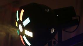 Lumiere rök stroboscope stock video