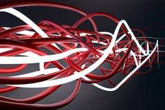 Luminant plexus. Abstract cord plexus background luminant and red Stock Image