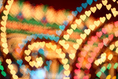 Luminarie heart shape Stock Photography