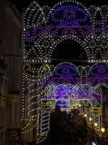 The luminarie for the saint`s day Royalty Free Stock Photos