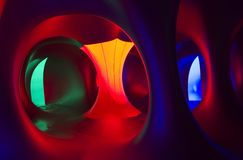 Luminarium. Inside of the Amococo Light Tunnel called Luminarium. Light and relaxing show building Royalty Free Stock Image