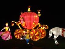 Luminated fairytale scène Royalty-vrije Stock Afbeelding