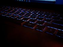 Luminated keyboard royalty free stock photo