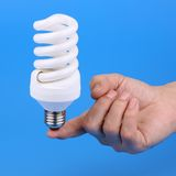 Luminescent bulb Royalty Free Stock Photos