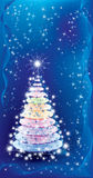 Luminescent Christmas tree Royalty Free Stock Photography