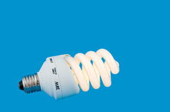 Luminescent energy-saving lamp Royalty Free Stock Photo