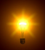 Luminescent  lightbulb Royalty Free Stock Images