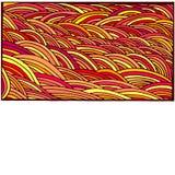 Lumineux, coloré, cadre de griffonnage d'abstraction, modèle de bande dessinée, lin Photo stock