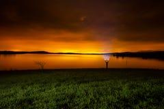 Luminicverontreiniging van Vitoria bij nacht Royalty-vrije Stock Afbeelding