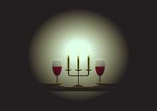 Luminosidade reduzida - tabela de jantar Imagem de Stock Royalty Free