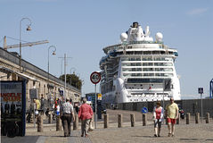 luminosità della nave da crociera del mare fotografia stock libera da diritti