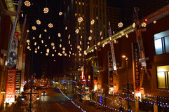 Luminosity. Downtown Denver, Colorado Strolling down 16th St royalty free stock photography