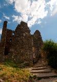 Luminoso da opinião do fim da torre de Surdespine em Lastours Fotos de Stock