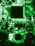 Luminoso da placa de circuito Fotos de Stock