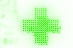 Luminoso hecho con las luces de neón brillantes verdes fluorescentes imágenes de archivo libres de regalías