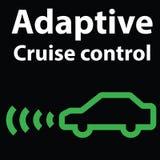 Luminoso icona d'avvertimento adattabile del cruscotto di controllo di crociera Illustrazione di immagine dell'automobile Fotografie Stock