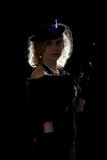 Luminoso noir da menina do filme Fotos de Stock