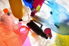 Luminoso plástico do lixo imagem de stock