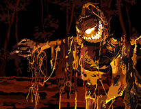 Luminoso relleno en un bosque oscuro Fotos de archivo libres de regalías