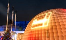 Luminotherapy帐篷场面 库存图片