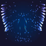 Luminous Angel on a dark background. Vector illustration Angel on a dark blue background Stock Photo