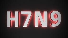 Luminous avian influenza type Royalty Free Stock Images