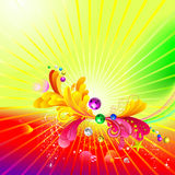 Luminous background. All elements are individual objects and can be easily edited stock illustration