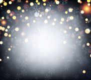 Luminous background with confetti Stock Images