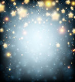 Luminous background with stars Stock Photography