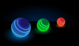 Luminous balls. Stock Image