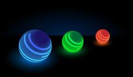 Luminous balls. Stock Image