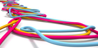 Luminous Cables Closeup Stock Photo