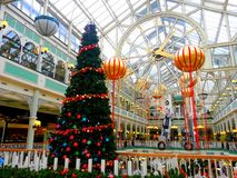 Luminous Christmas in a mall Royalty Free Stock Photography