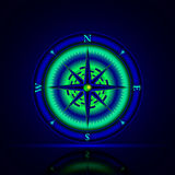Luminous compass Stock Images