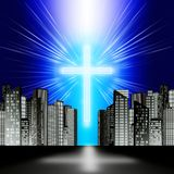 A luminous cross Stock Image