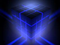 Luminous cube Stock Photo